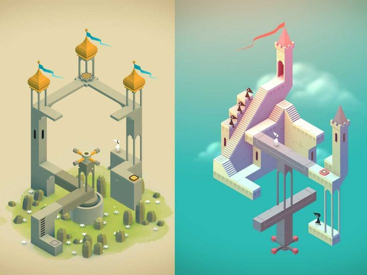 Monument Valley lets you explore fantastical environments with impossible geometry.