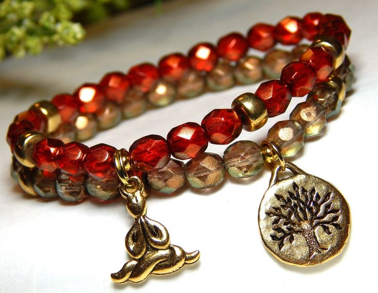 Womens Beaded Yoga Bracelet Set