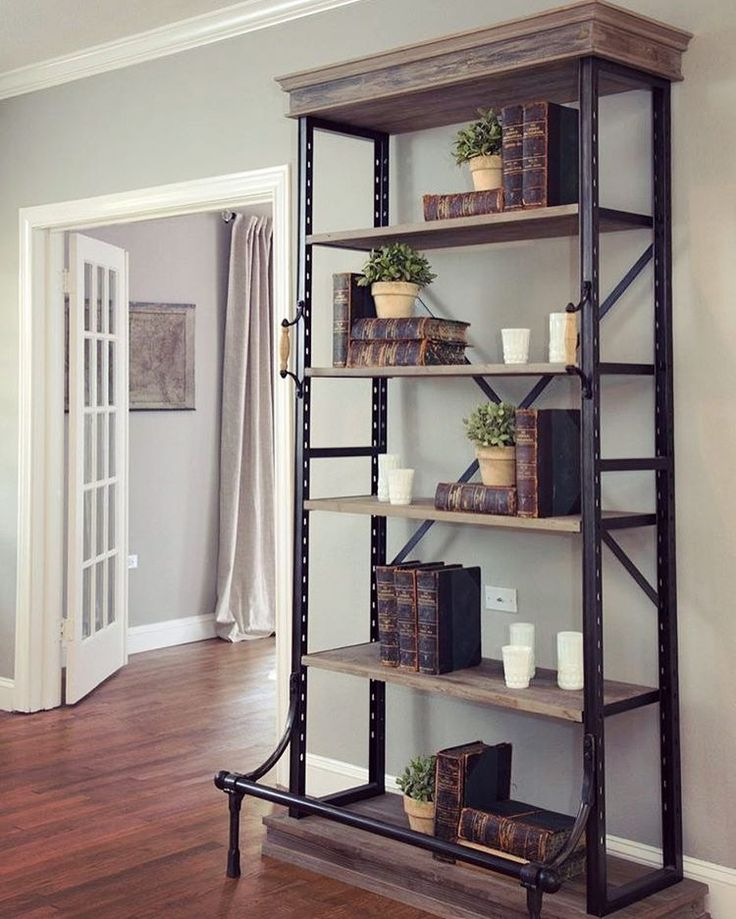 """205 Likes, 5 Comments - Canalside Interiors (@canalsideint) on Instagram: """"• All In The Detail •  Canalside Interiors' Diaz Industrial Bookshelf offers a welcome masculine…"""""""