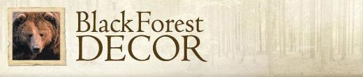 Black Forest Decor Bear Cabinet Knobs