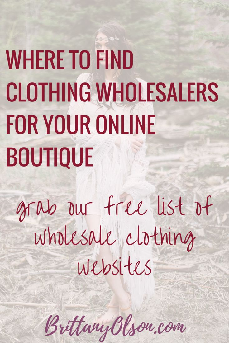 How to start an online boutique and find wholesale clothing distributors we recommend. Find boutique wholesale clothing distributors and learn how to open an online shop to sell clothing online