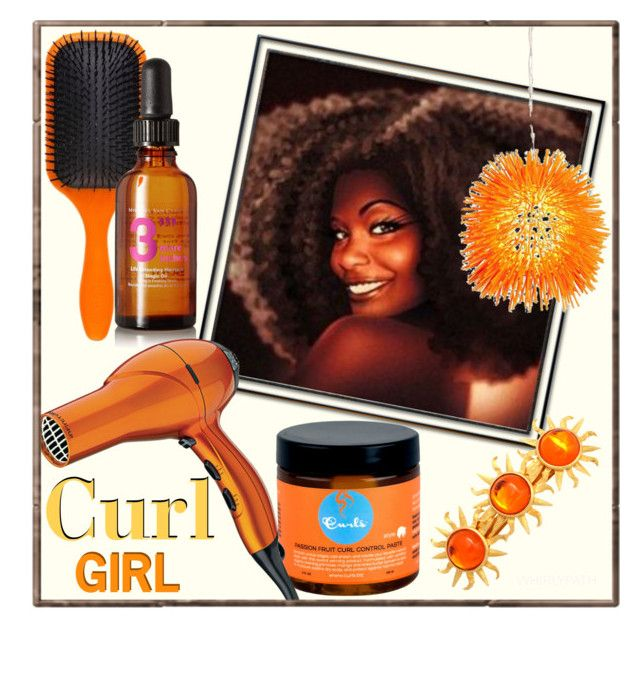 Curl Girl! by whirlypath on Polyvore featuring beauty, Conair, Denman, Michael Van Clarke and Varaluz