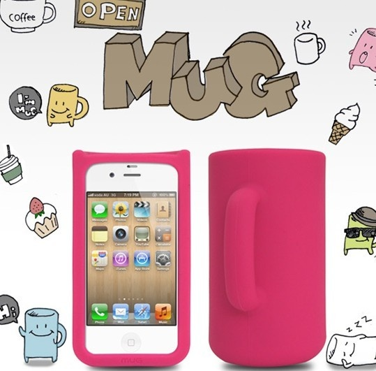 Mug Shaped Silica Gel Case for iPhone4 and 4s - Apple Accessories - Funny Gadgets Free shipping
