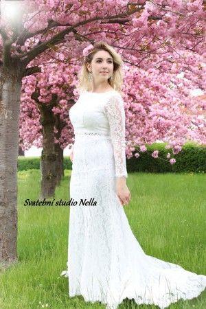 Wedding Dresses Lace Boho Dress Bile Krajkove Svatebni Saty S