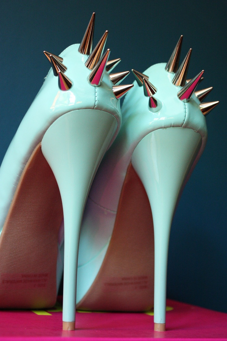 White Spiked High Heels. Wicked! Fashion Pinterest