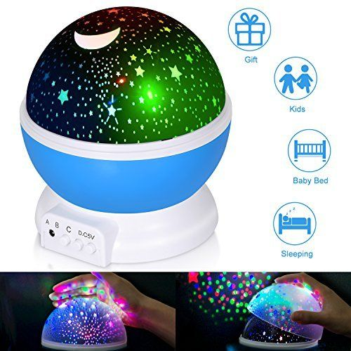 Boomile Baby Night Light, Star Light Rotating Projector, 4 LED Bulbs 8 Modes, Color Changing With USB Cable, Unique Gifts for Kids #Boomile #Baby #Night #Light, #Star #Light #Rotating #Projector, #Bulbs #Modes, #Color #Changing #With #Cable, #Unique #Gifts #Kids