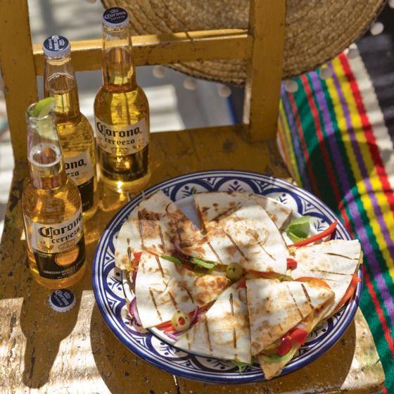 Knapperige BBQ-quesadilla
