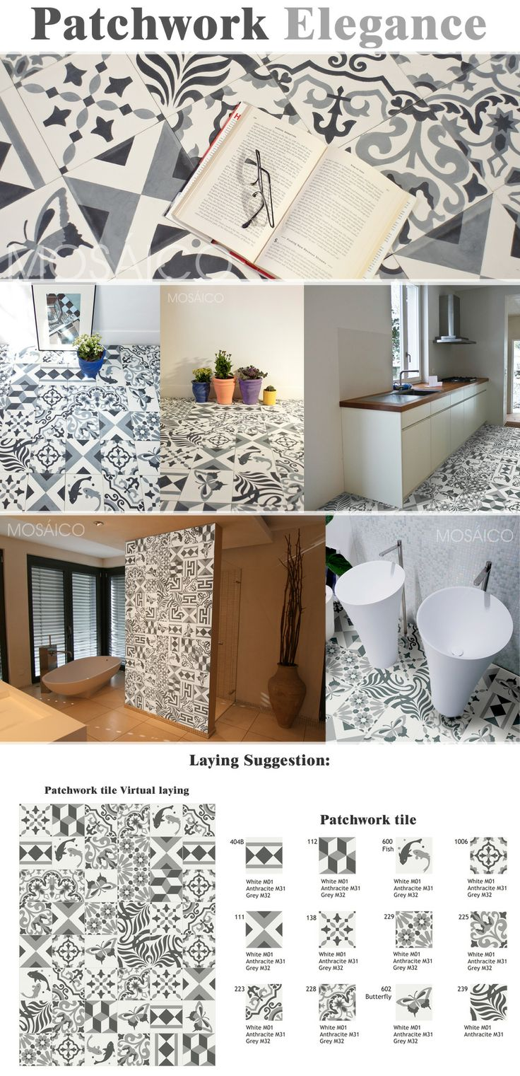 28 best Patchwork Mosáico – Fliesen / Tiles / Carreaux / Losas ...
