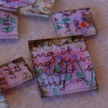 ***might be cool with pages from the BIBLE?...Transparent Pendants with Text