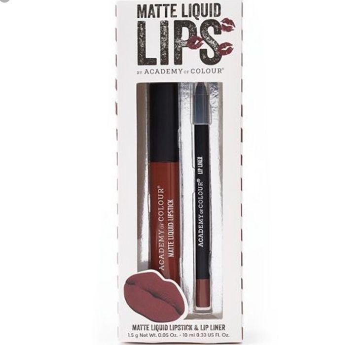 Matte Liquid Lips By Academy Of Colour Lip kit Liquid Colour And Liner Morrisons  | eBay