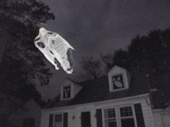 Flying Ghosts.-- This is a great Halloween Decoration! Click picture to learn