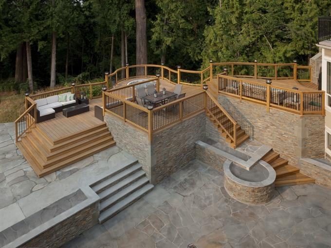 129 Best Images About Multi Level Deck On Pinterest Back