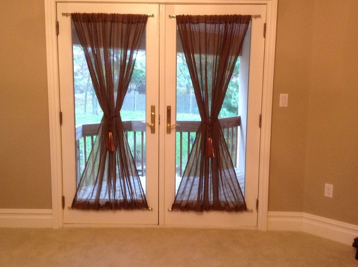 Curtains For French Doors Ideas light gray french door curtain Diy French Door Curtains