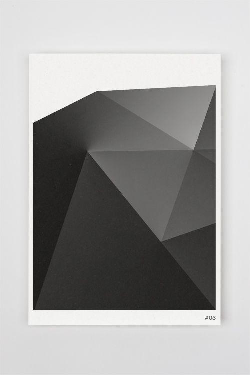 Print poster geometric monochrome
