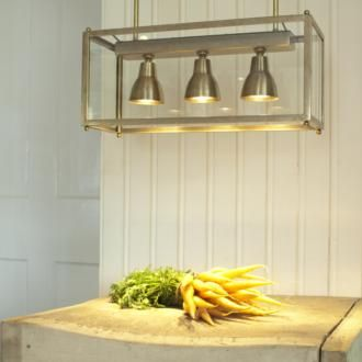 The Ryland Pendant is perfect for lighting a #butchersblock in your country kitchen .