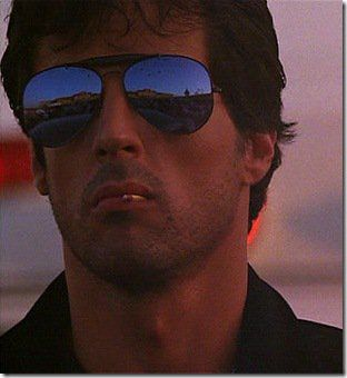 1986; Sylvester Stallone in Cobra Wearing RayBans