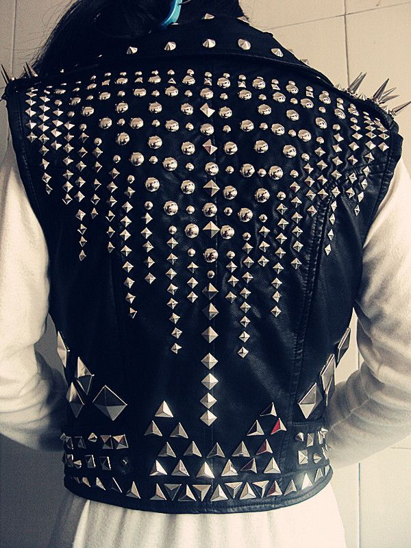 23 Best Spiked Vest Images On Pinterest Riveting Spikes