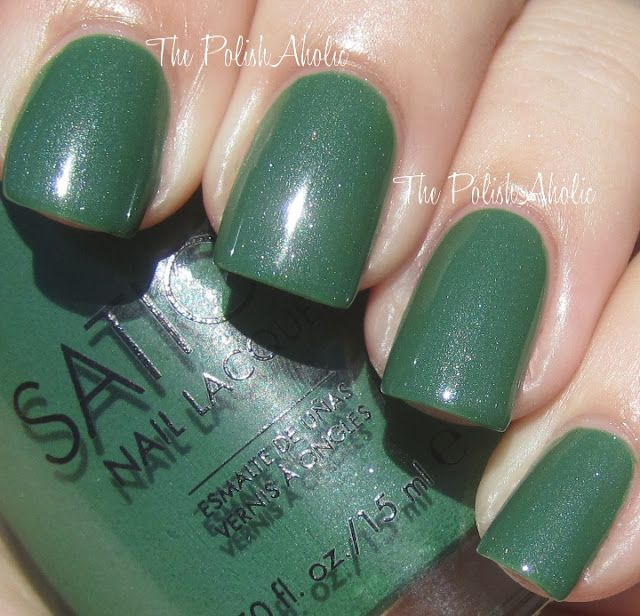 I Paint In Peace Is A Gorgeous Green With Subtle Silver Shimmer