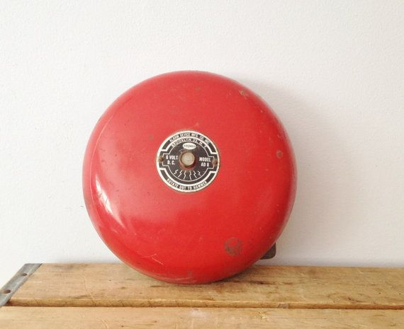 Vintage Fire Alarm  Ademco Alarm Device Mfg by LillyQueenVintage, $75.00