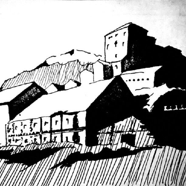 """""""Abandoned coal mine"""" foto reference study, high contrast, ink."""