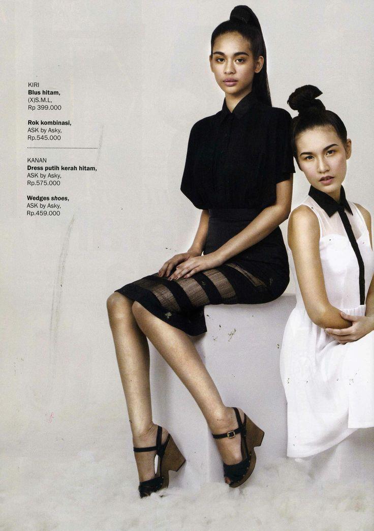 (X)S.M.L Black Top is appeared on Kartini - April 2013