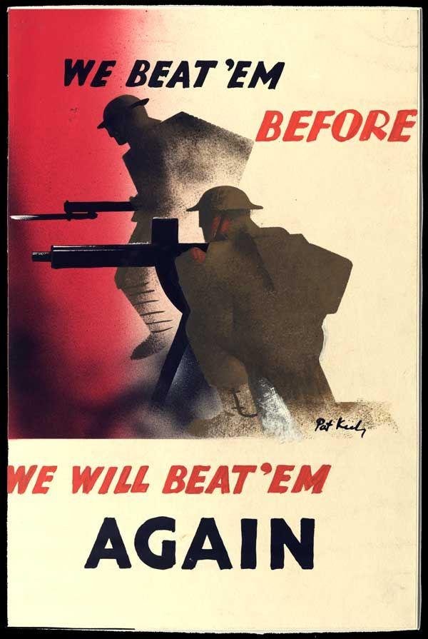 British poster: We beat 'em before. We Will beat 'em again.
