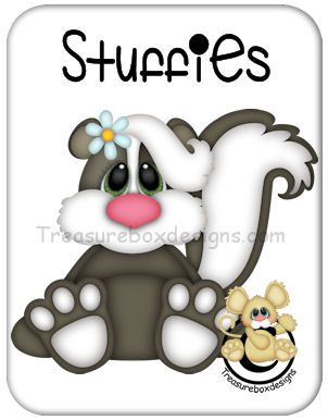 Stuffies Skunk - Treasure Box Designs Patterns & Cutting Files (SVG,WPC,GSD,DXF,AI,JPEG)