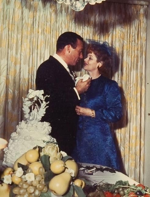 Lucy and second husband, Gary Morton at their wedding
