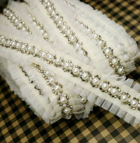 Hey, I found this really awesome Etsy listing at https://www.etsy.com/listing/177596659/beige-beaded-lace-trim-bridal-sash