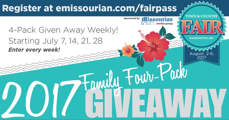 Check out 2017 Town & Country Fair Ticket Sweeps from Washington Missourian - I just entered here!