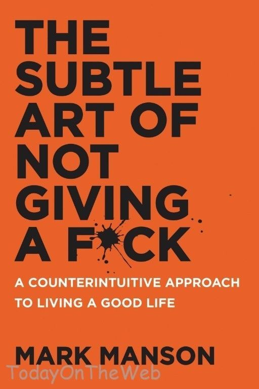 The Subtle Art of Not Giving a F*ck: A Counterintuitive Approach  Mark Manson 62457713 | eBay