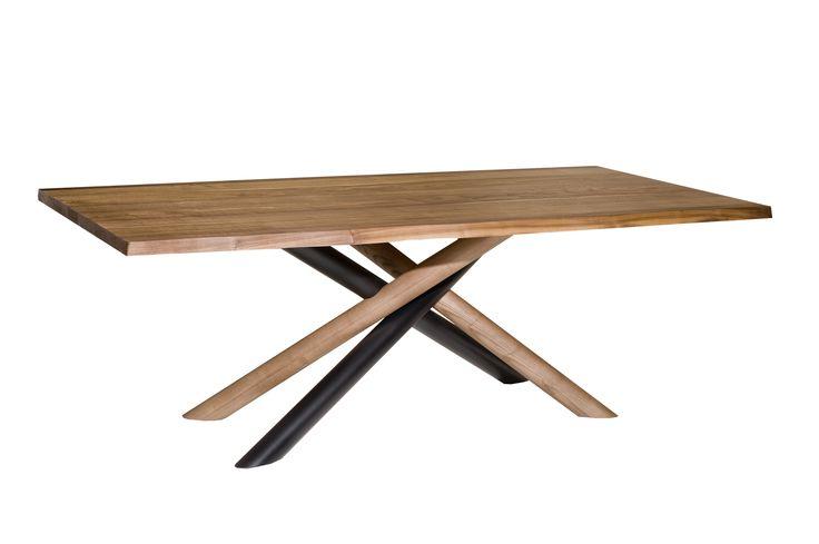 Table T239-TUBE metal & wood design by Manolis Giannouladis for #furnitureunico