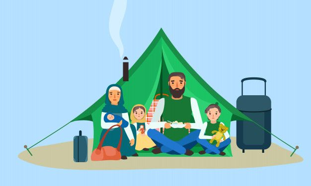 Homeless Family In Tent Concept Banner Free Vector Freepik Freevector Freebanner Freepeople Freebaby Freetra Homeless Families Concept Free Banner