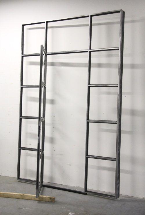 DEMOCO | Stalen pui voor een snoewinkel #stalendeuren #staal #deur #pui #steel #doors