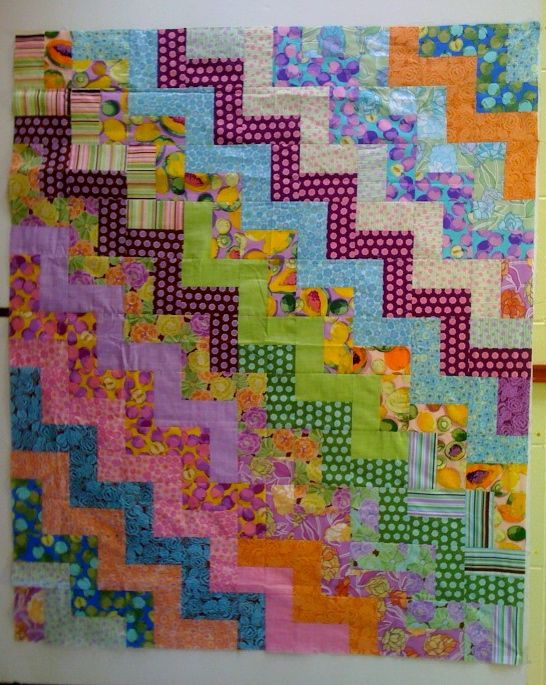1000 Ideas About Rail Fence Quilt On Pinterest Easy