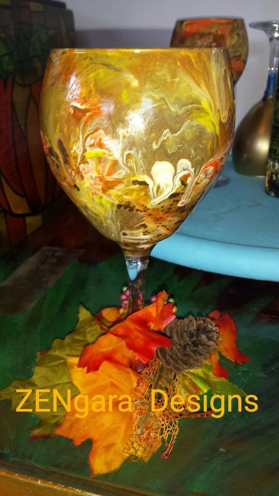 Turn Dollar Store Wine Glasses into a Shimmering Centerpiece