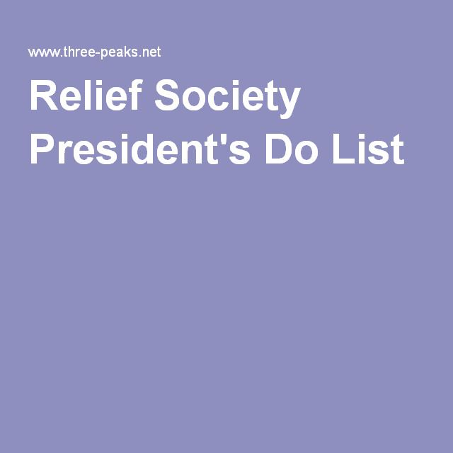 Relief Society President's Do List                                                                                                                                                                                 More