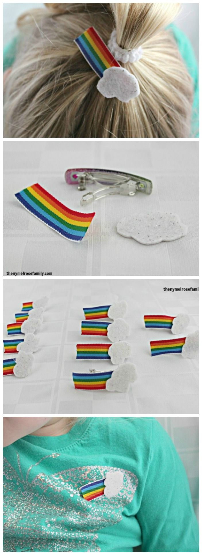 St. Patrick's Day Crafts: Rainbow Hair Clips & Pins