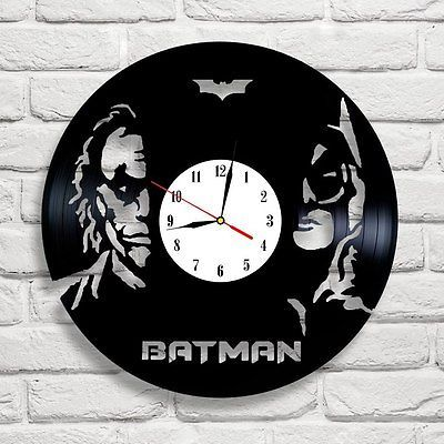 Batman & Joker new design vinyl record clock white ] [ * ], in [Home, Furniture & DIY, Clocks, Wall Clocks | eBay
