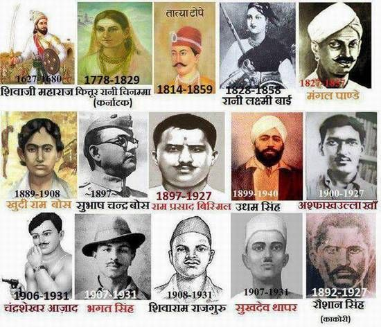 indian freedom fighters.