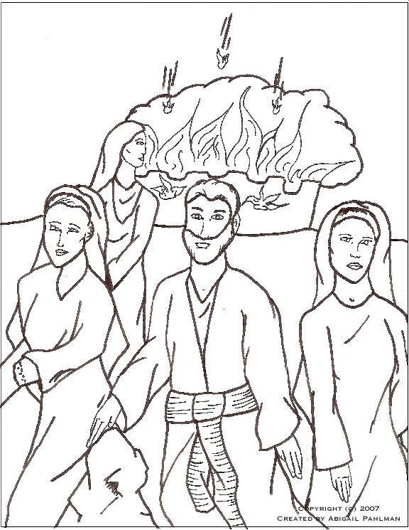Sodom And Gomorrah Coloring Page