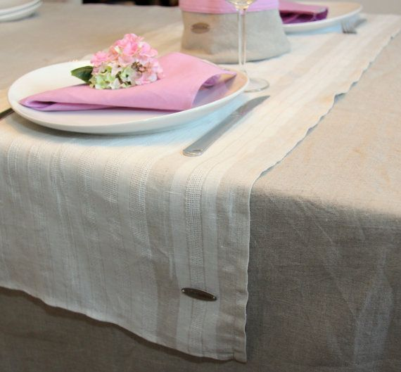 Linen table runners by lininline on Etsy