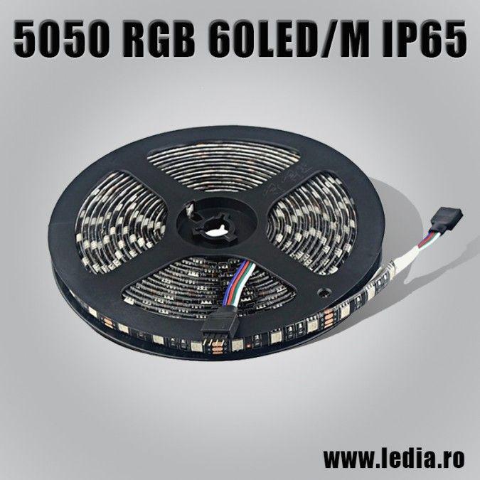 BANDA LED 5050 RGB 60 LED/M IP65