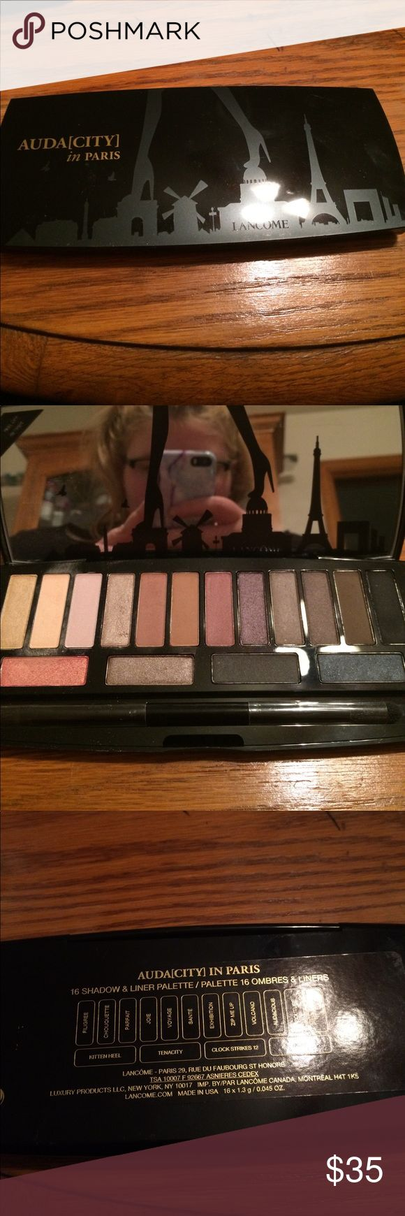 Lancôme Auda(city) in Paris Eyeshadow Palette Some colors have been swatched but other than that pretty much brand new. Lancome Makeup Eyeshadow