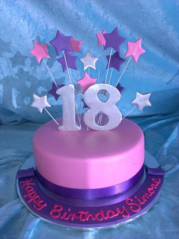 Cake Images For 18th Birthday : 18th Birthday Cake Starburst cake toppers Pinterest ...