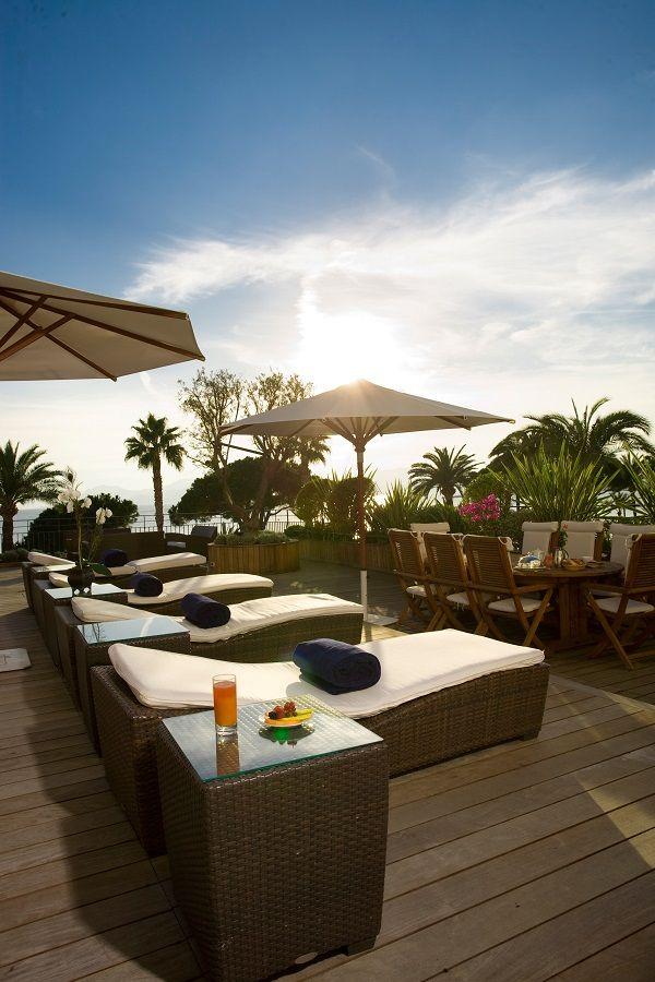 Relax while overlooking the azure blue Mediterranean Sea at Grand Hyatt Cannes Hôtel Martinez.