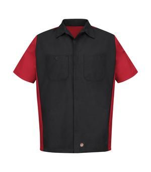 RED KAP® SHORT SLEEVE CREW SHIRT. #SY20 - 7.1 oz, 65/35 polyester/cotton ripstop Superior colour retention, soil release, and wickability. Suitable for industrial wash, light soil or home wash. Easy care durable press finish Convertible collar with sewn-in stays. Left chest pocket with double pencil stall. Utility pocket on left sleeve. For details on how to order this item with your logo branded on it contact ww.fivetwentyfour.ca #promoitems