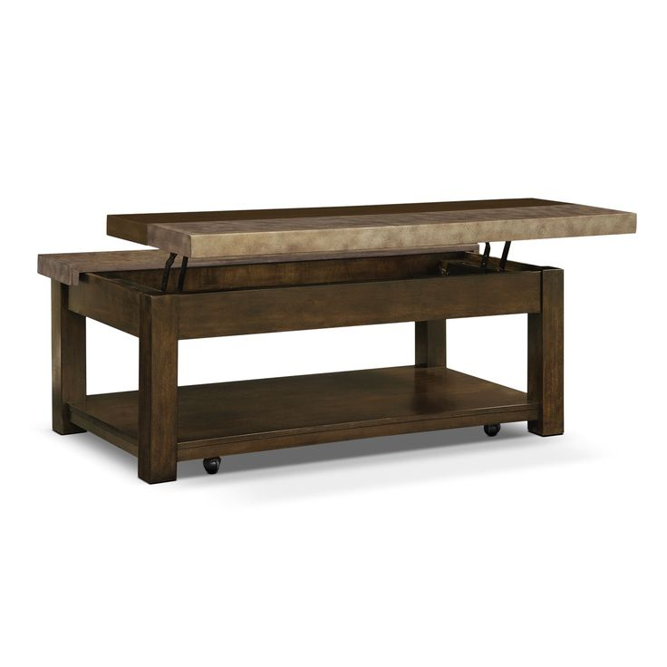 Why are our coffee tables so cool plano lift top for Coffee tables value city furniture
