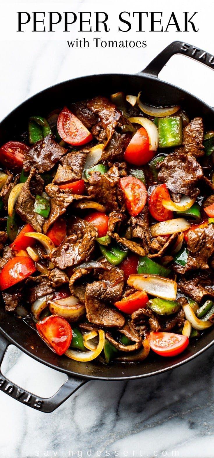 Green Pepper Steak Recipe In 2020 Pepper Steak Stuffed Peppers Beef Dinner