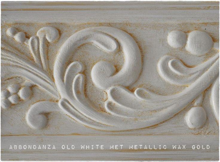 Abbondanza krijtverf Old White met Metallic Wax Gold